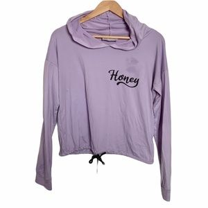 """4 for $20//""""Honey"""" Hooded Active Top"""